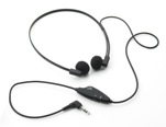 Spectra VC5 Headset with Volume control & Stereo/Mono switch - 3.5mm