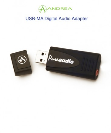 Andrea USB-MA Digital Audio PC Microphone Adapter is a high fidelity external sound card device with stereo microphone input support.