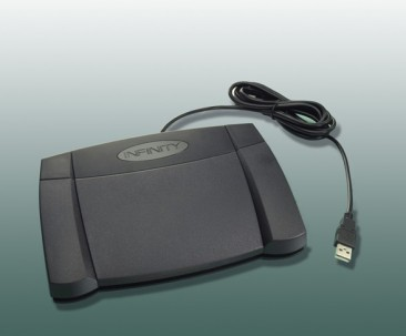 Infinity USB Foot Pedal 2 - - 3 Pedal Control for PC Transcription