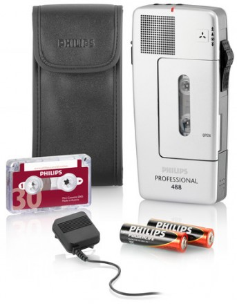 Philips 488 Mini Cassette Pocket Memo Recorder